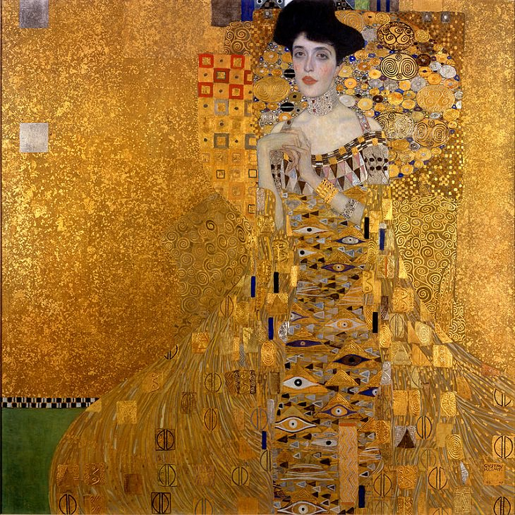 Most expensive and highest valued paintings in the world, Portrait of Adele Bloch-Bauer I, by Gustav Klimt - Sold for $135 Million