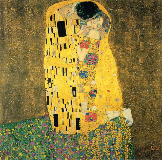 Gustav Klimt 1907 - 1908 the kiss