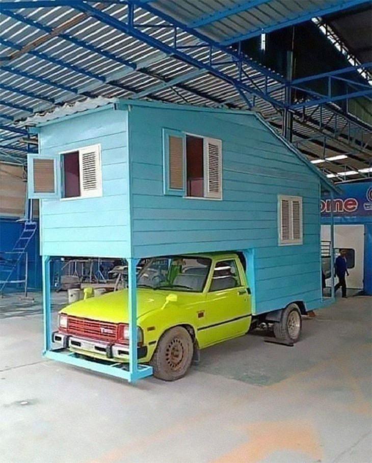 Weird Architecture, car