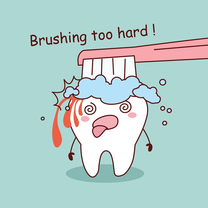 over brushing teeth