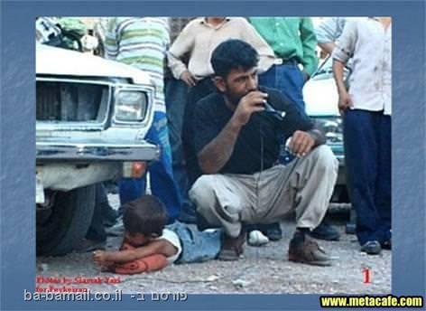 Iranian justice, Iran, boy caught stealing, arm crushed