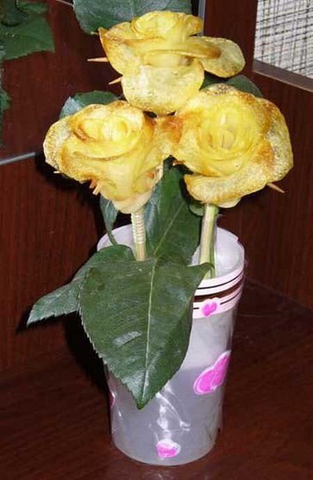 roses, meal, dinner