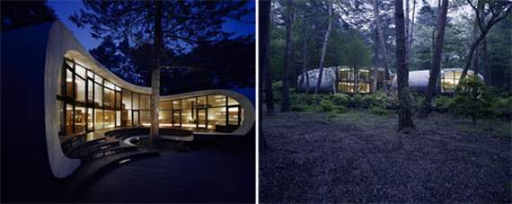 Shell House ,architecture, wood