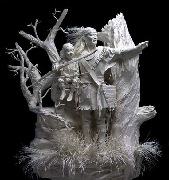 Paper statues