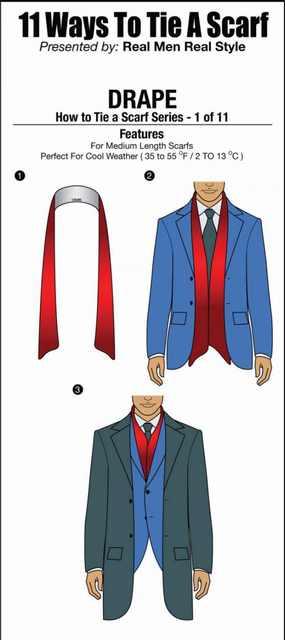 tying scarfs