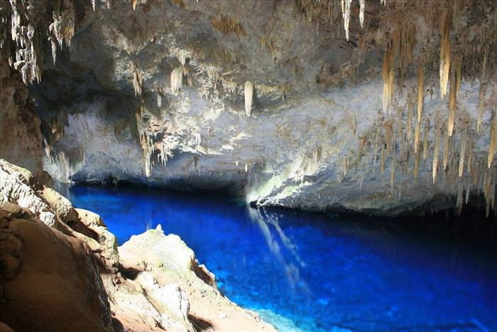 blue lake cave