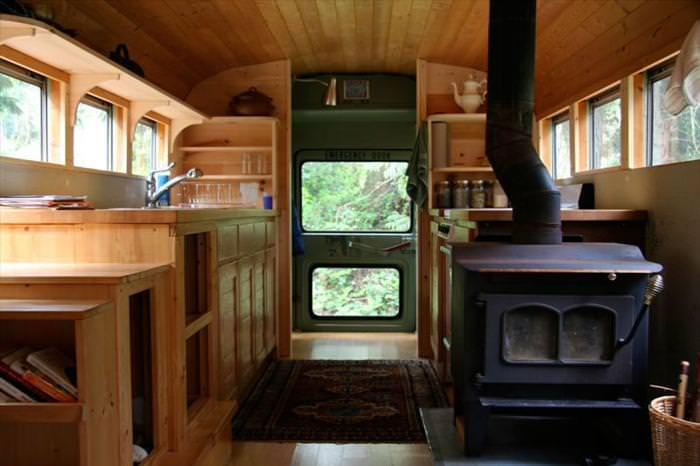 bus turned mobile home