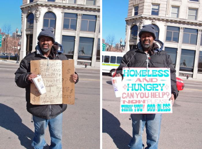 signs for the homeless