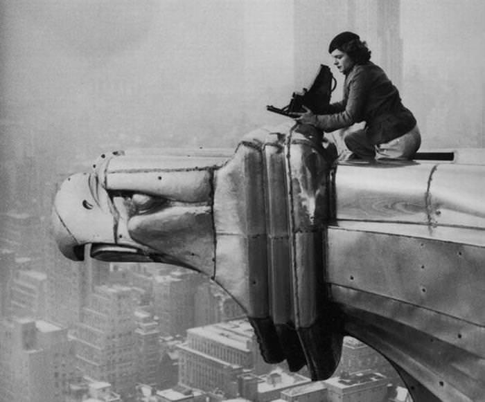 33 strong women: Photographer Margaret Bourke-White Atop the Chrysler Building