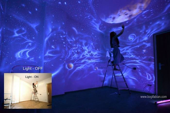 Surreal interiors - paredes azuis