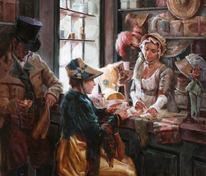 Meadow Gist's Colonial America Paintings