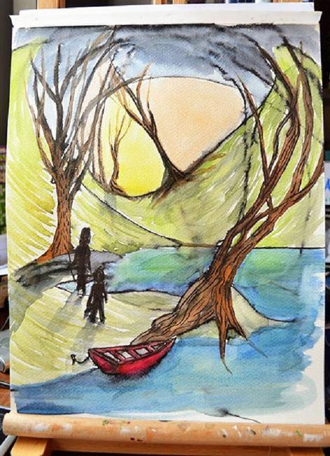 The Red Boat Painting