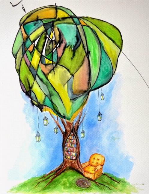 Bookworm's Dream Painting