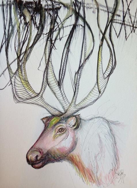 The Reindeer Painting