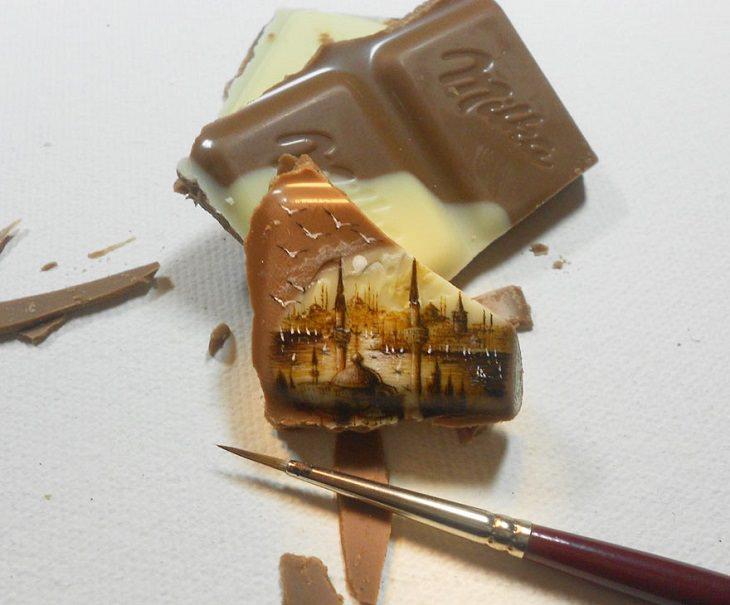 Hasan Kale - Turkish Artist - Tiny Paintings