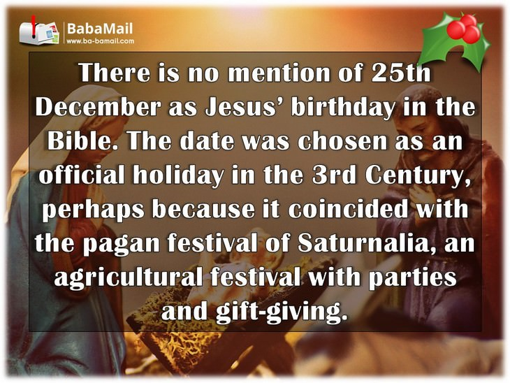 Interesting Facts About Christmas.Xmas Trivia 12 Merry Interesting Festive Facts Baba