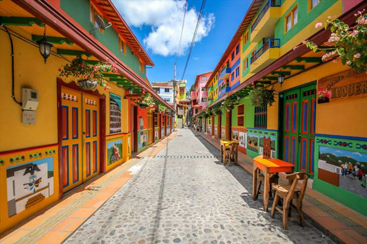Guatape, colorful town, Colombia, beautiful