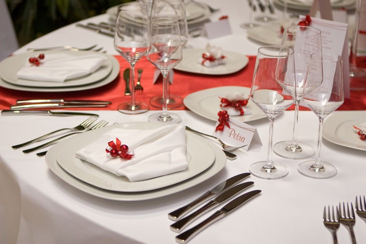 etiquette guide, table setting, Christmas