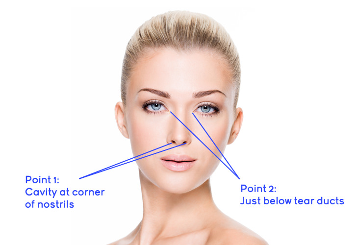 4 Pressure Points to Get Rid of a Blocked Nose | Health