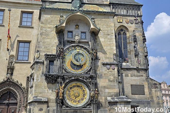 famous Clock towers: The Prague Astronomical Clock