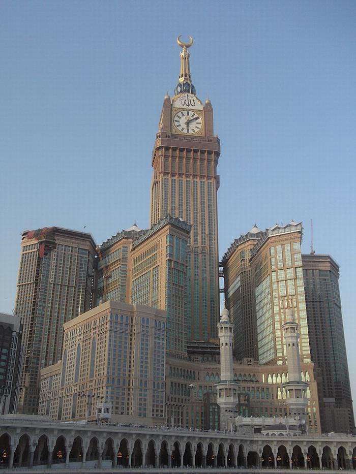 famous Clock towers: Makkah Royal Clock Tower Hotel
