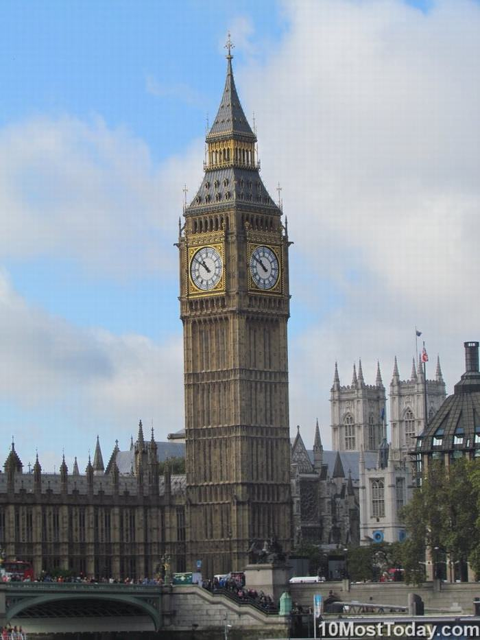 famous Clock towers: Big Ben (Elizabeth Tower) London, England