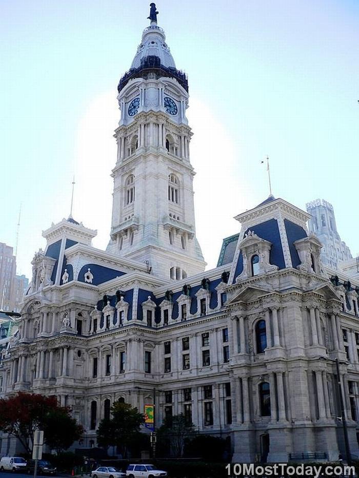 famous Clock towers: Philadelphia City Hall