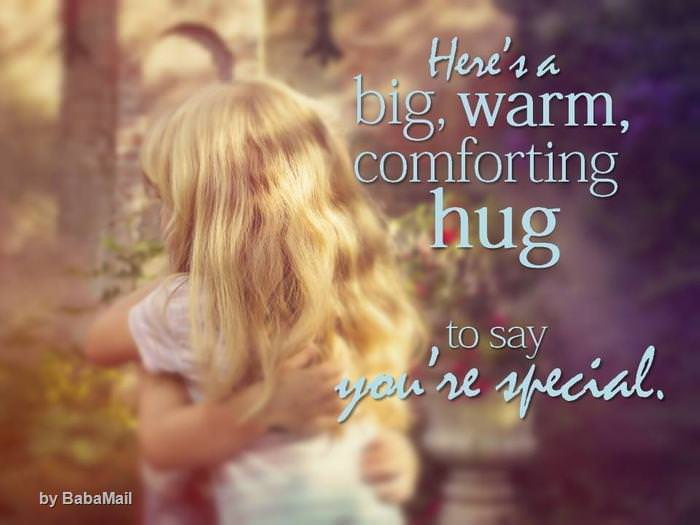 Send A Hug To A Dear Friend Baba Recommends Babamail