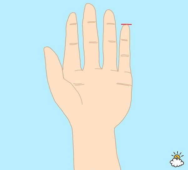personality test - even pinky finger