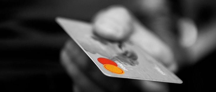 credit card, b/w