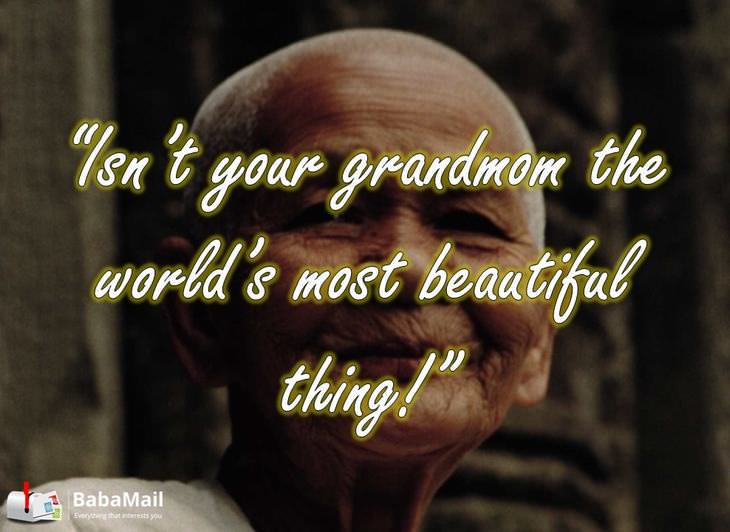 beautiful grandmother, love