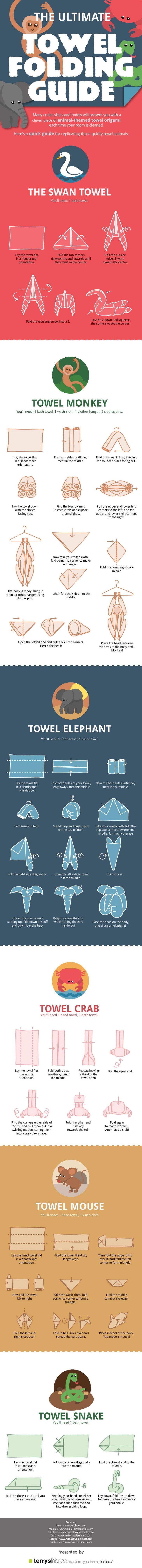 towel, folding, guide