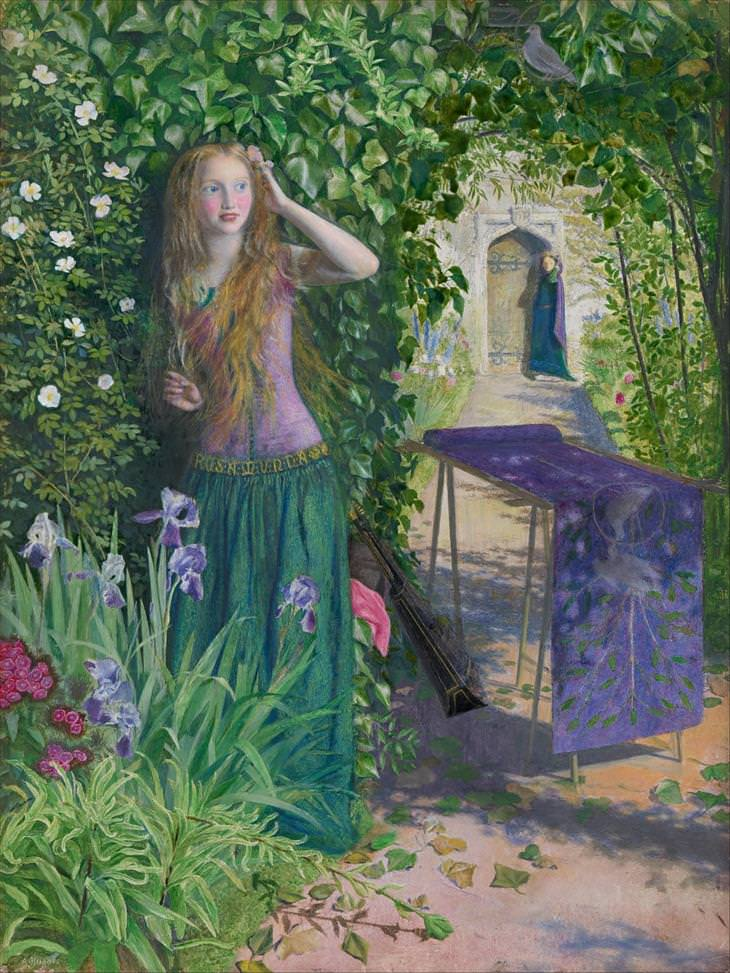 Pre-Raphaelite, paintings, Arthur Hughes, Fair Rosamund
