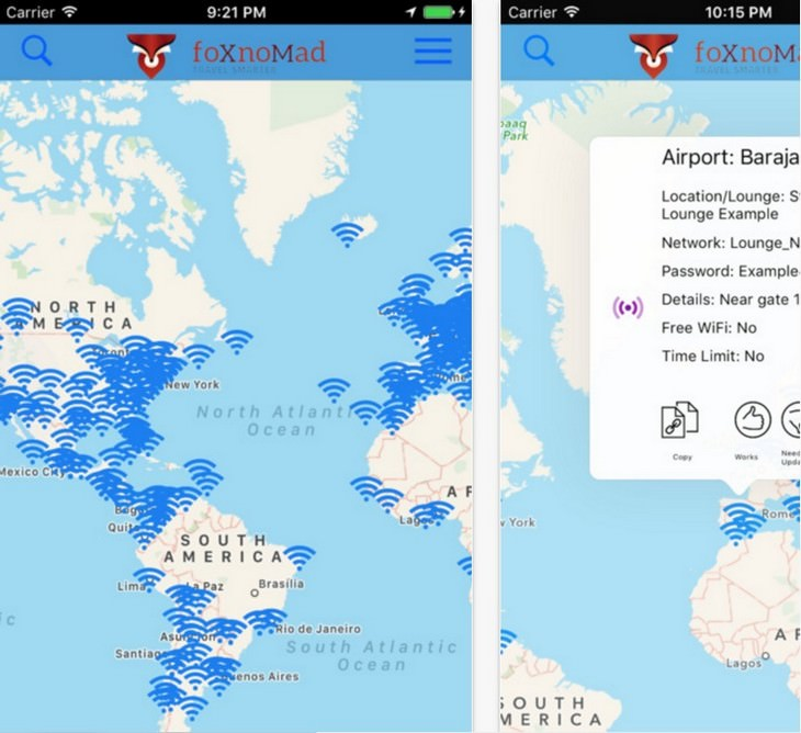Wi-Fi, airports, travel, apps