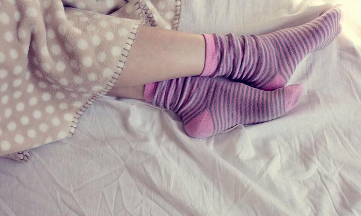 socks, sleeping, garlic