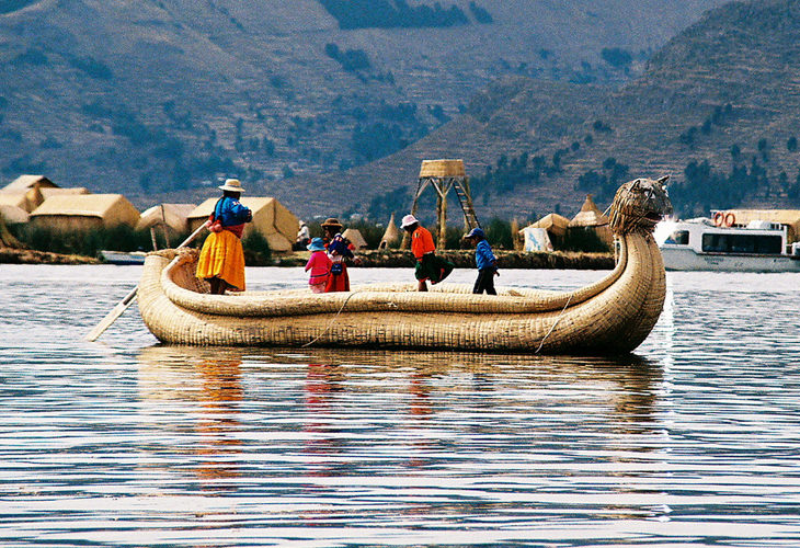 unique modes of transport: Barco de Totora (Reed Boat)
