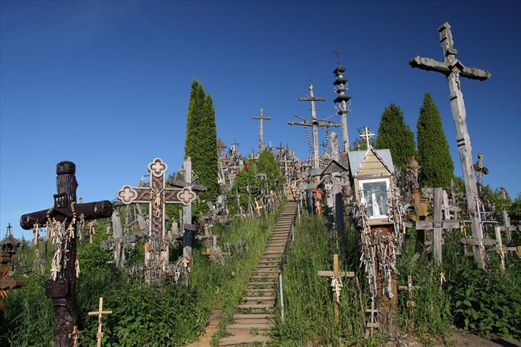 Lithuania, hill of crosses, travel, Christian