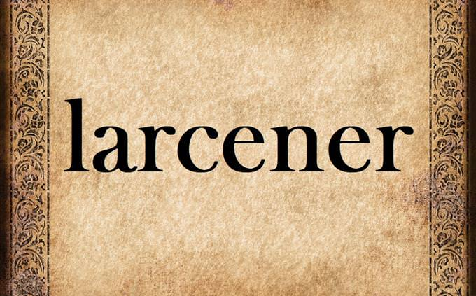 'larcener' on old parchment