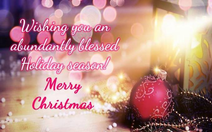 Wishing You a Blessed Holiday Season