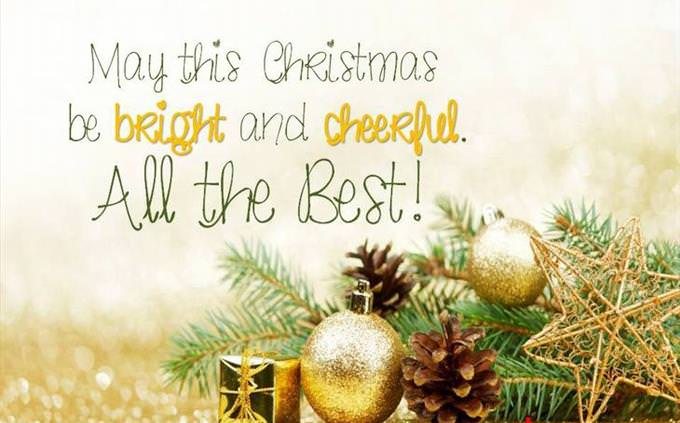 Have a Bright & Cheerful Christmas