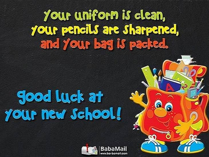 Good Luck at Your New School!