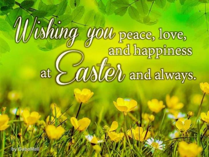 Wishing You Peace and Love This Easter...