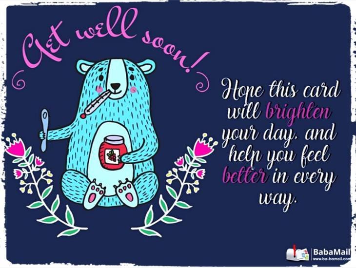 I Really Hope You Feel Better Soon...