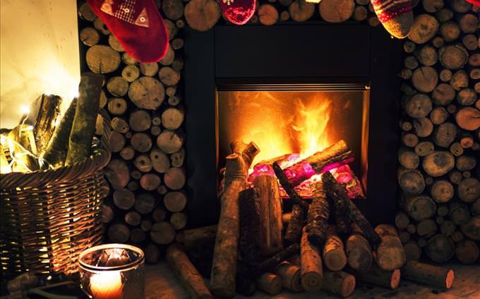 festive fireplace