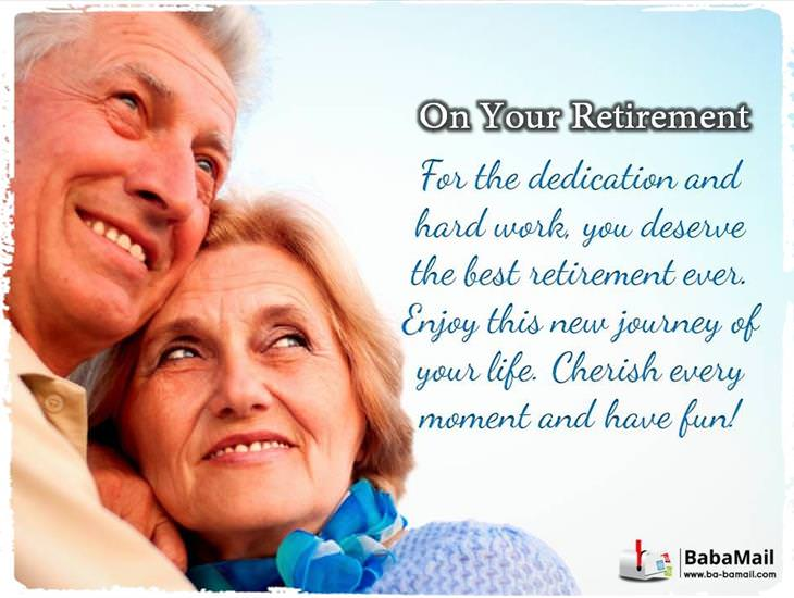 On Your Retirement...
