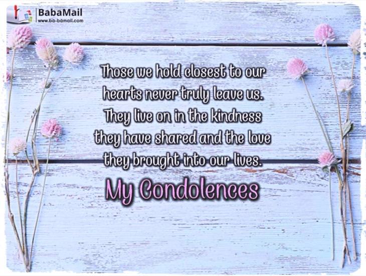 My Condolences...