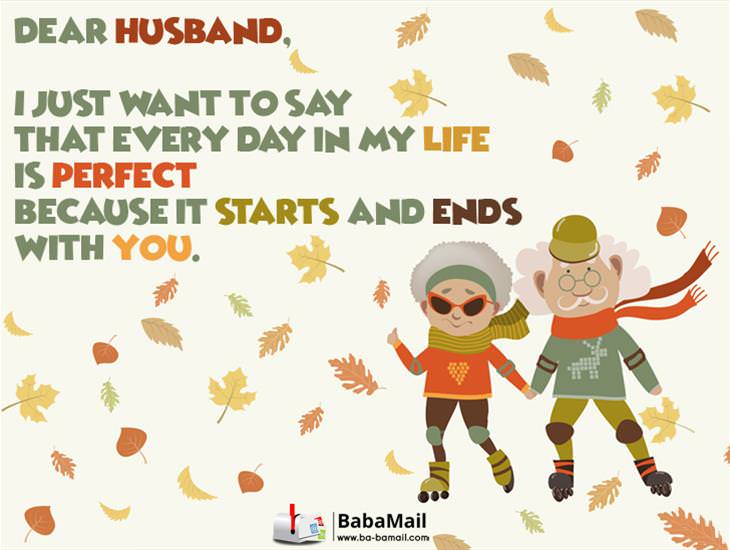 Dear Husband, My Life is Perfect Because of You!