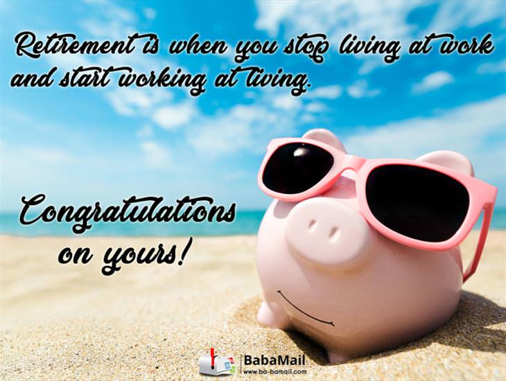 Happy Retirement! Enjoy It to the Full!