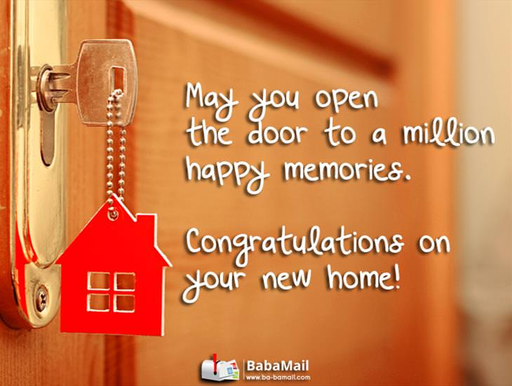 Here's to Many a Happy Memory in Your New Home!