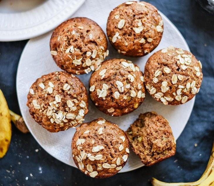 Recipe - Maple-sweetened - Banana - Muffins